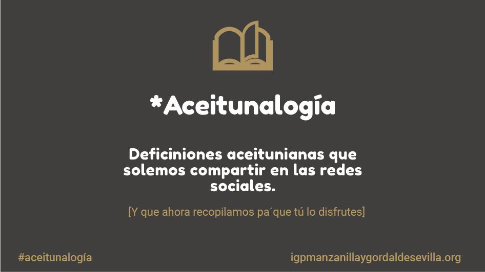 Aceitunalogía, diccionario de la Aceituna Sevillana de Mesa 1