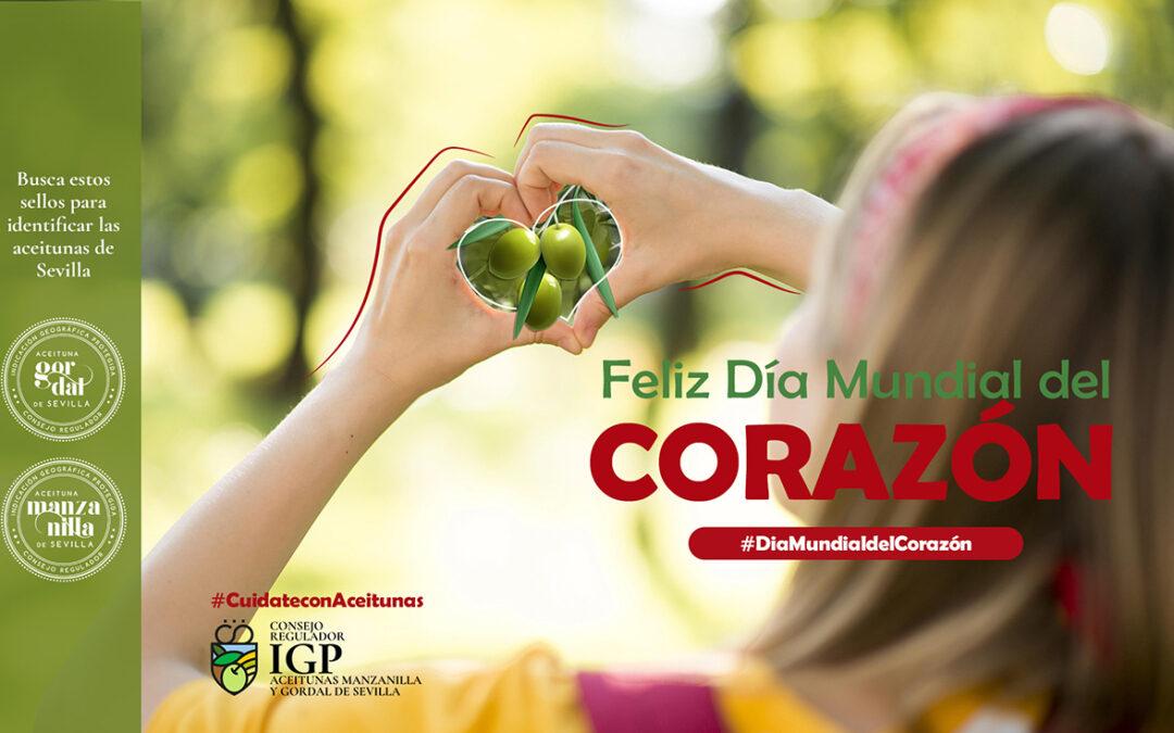 """Las aceitunas cuidan tu corazón """"Feliz Día Mundial del Corazón"""""""